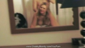 Amateur Blond Fucking Infront Of A Mirror