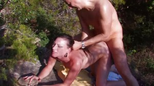 Hot couple fucking in the mountains - Kemaco Studio