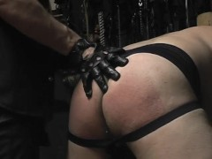 Chubby Guy Tied, Spanked and Cummed On - Pig Daddy Productions