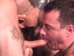 Big bears getting their dicks wet - Factory Video Productions