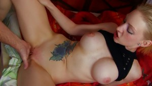 Big titty blonde with a shaved pussy - Kemaco Studio