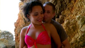 Petite french cutie gets fucked at the beach - Kemaco Studio
