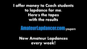 Wild lapdance and BJ by czech cutie
