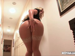Phat white booty loves big black cock in her ass