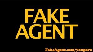 FakeAgent Brunette amateur takes huge facial