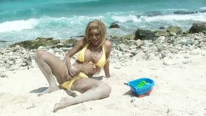 Karla Carrillo at the beach
