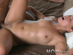 - MOM Brunette MILF gets...