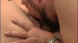 Old guy eats out younger pussy