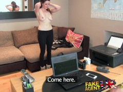 FakeAgentUK Posh young British girl gets anal creampie casting