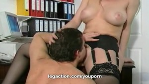 Busty Alysa fucked inside her office exclusively at LegAction