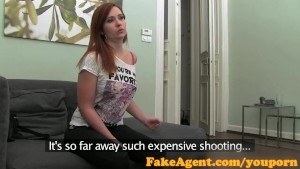FakeAgent Creampie for red head sex kitten