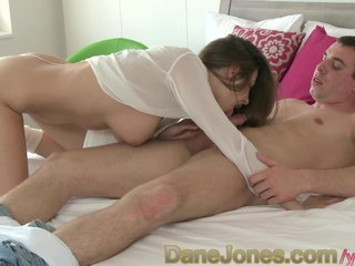 Couple Female Friendly Foreplay video: DaneJones Stunning Brunette with big tits makes love