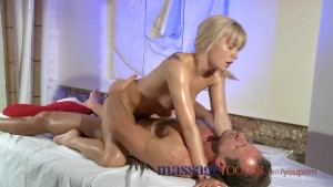 Massage Rooms Teens lick and suck big hard cocks and get slammed in return