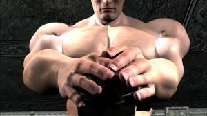Muscled king fucks hard brunette babe