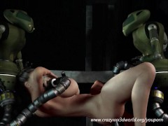 Picture Robots sex attack for a big titted chick