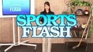 japanese sports news flash anchor fucked from behind and bukkake