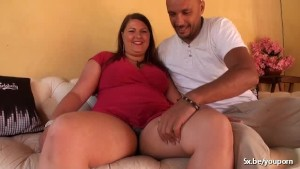 Stacy a French BBW analfucked