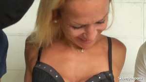 Angelique double penetrated in a gangbang