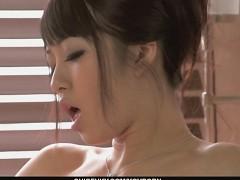 Sexy Kotomi rubbing an...