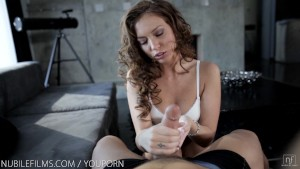 Nubile Films - Petite goddess Maddy Oreilly swallows every last drop