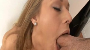 Sexy Girl Gags balls Deep On A Monster Cock!