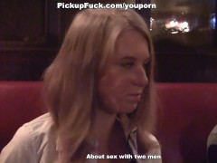 girl suck dick for 100 euros in a cafe in front of everybody