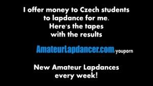 Czech cutie does lapdance and handjob