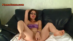 Young Redhead In Glasses Squirts