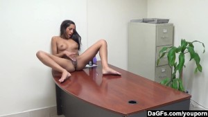 Office Striptease And Orgasm