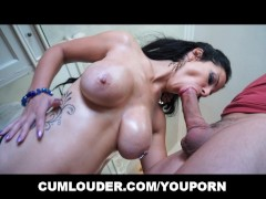 Busty Latina gets her Tits Fucked and Jizzed