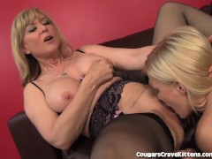 Nina Hartley Gives Teen Girl Her First Lesbian Orgasm