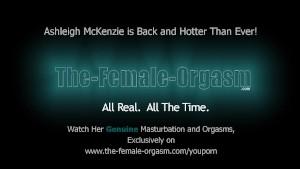 Hot MILF Ashleigh McKenzie Rubs Her Big Pussy