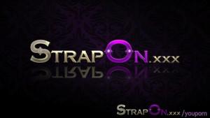 StrapOn Hot tub lesbian strap on dildo orgasms