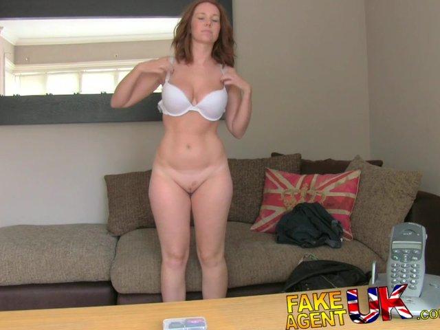 False porn audition with hot black slut 6