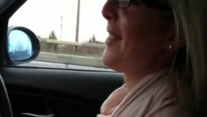 Flashing boobs while driving