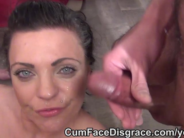 Nice amp messy sperm squirt on her mug - 2 2