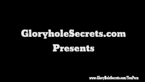 Gloryhole Secrets teen Laura sucking and swallowing strangers loads at glory hole