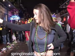Girls Flashing at Mardi Gras