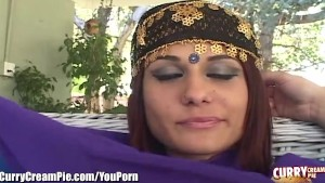 CurryCreampie Desi Babe Sucks and Fucks