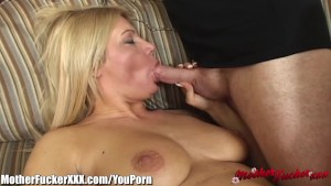 MotherFucker Blonde MILF Loves Cock