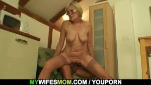 She enjoys sucking and riding her son-in-law s cock