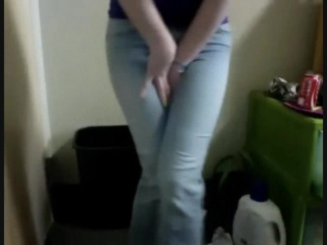 Girls pee in pants free video