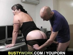 Huge lady is fucked by future boss