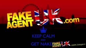 FakeAgentUK English barmaid reveals impressive tits in fake sex casting