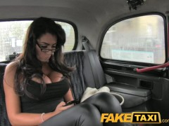 FakeTaxi Busty tits and blowjob lips