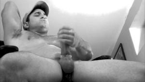 Big cock shoots cum!