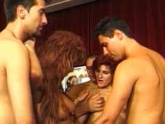 Group orgy at the club - Telsev