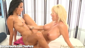 NuruNetwork Layla Sin Massaged by Big Boobed Summer