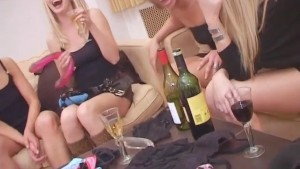 lesbian strapon group sex party