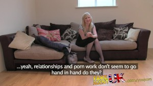 FakeAgentUK Exclusive! YouPorn girl Satine Spark in her original casting couch UK video